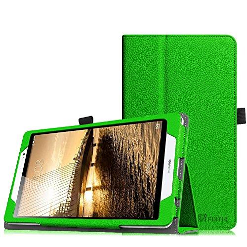 Fintie Huawei MediaPad M2 8.0 Hülle - Slim Fit Kunstleder (Folio) Schutzhülle Tasche Case Cover Standfunktion & Stylus-Halterung für Huawei MediaPad M2 8 Zoll LTE/WiFi Tablet-PC, Grün