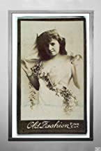 c1888–90 Photograph ''Actress wearing costume with sash of vines, from the Actresses series (N664) promoting Old Fashion Fine Cut Tobacco'', Antique Vintage Fine Art Reproduction,|Size: 7x12|Ready to