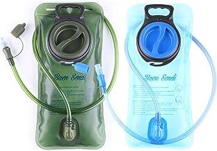Baen Sendi Hydration Bladder 2 Liter/70 oz - Pack of 2(1 Piece Blue+1 Piece ArmyGreen) - BPA Free Hydration Pack Replacement(2 Pack)