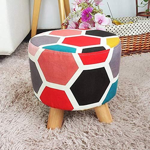 WRISCG - Sgabello creativo in tessuto semplice per soggiorno, divano e porta con cambio scarpe, panca per casa, tavolino da caffè, lavabile, multifunzione, colore: A-034