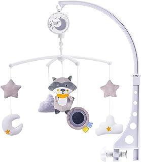 McNory Mobile Musical Berceau Bébé,Mignon Ours en Peluche Carillon Éolien Cloche De Lit pour Bébé Cadeau pour Nouveauné Fi...