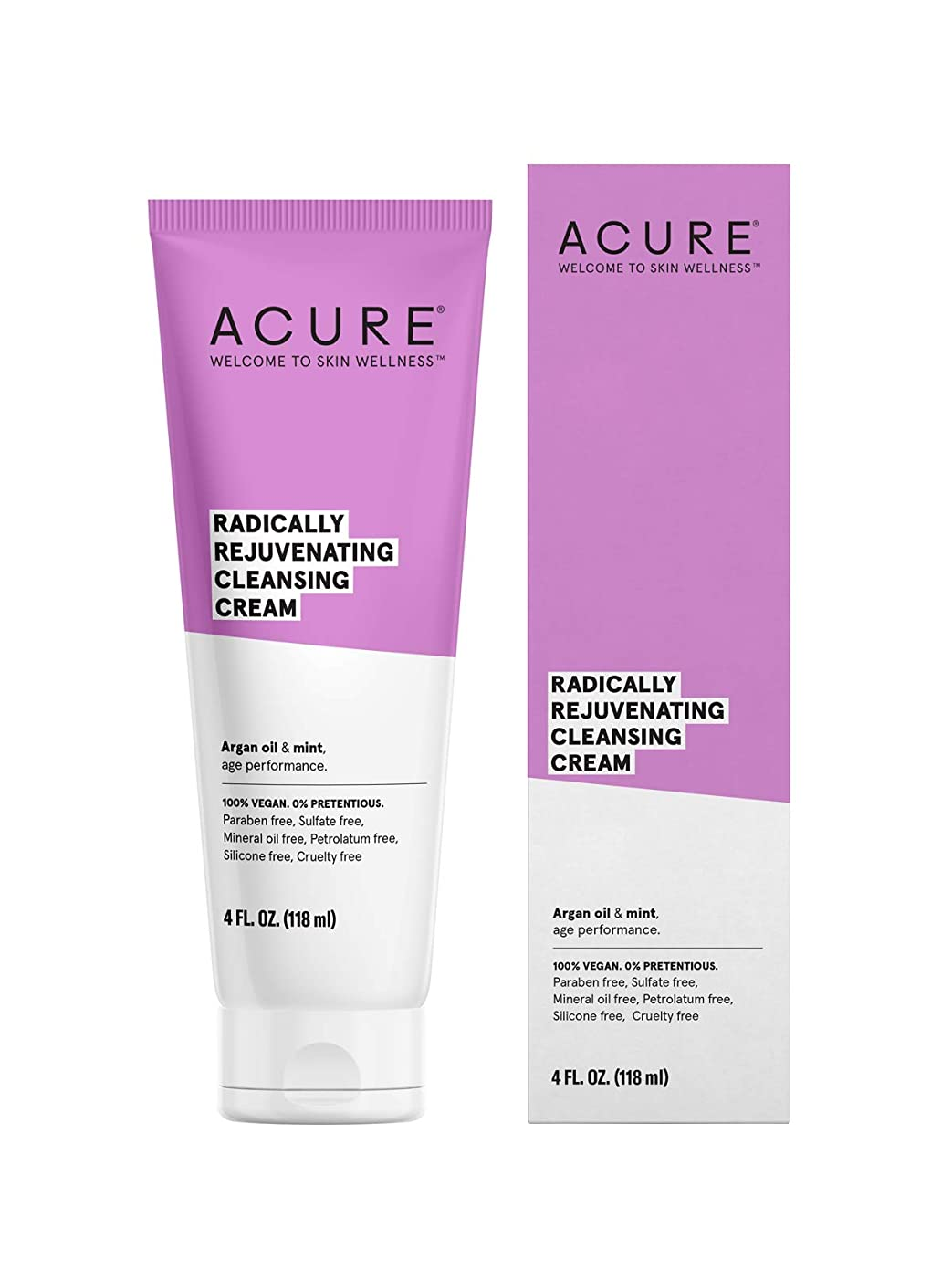 ACURE社 Facial Cleansing Creme Argan Oil + Mint 4オンス