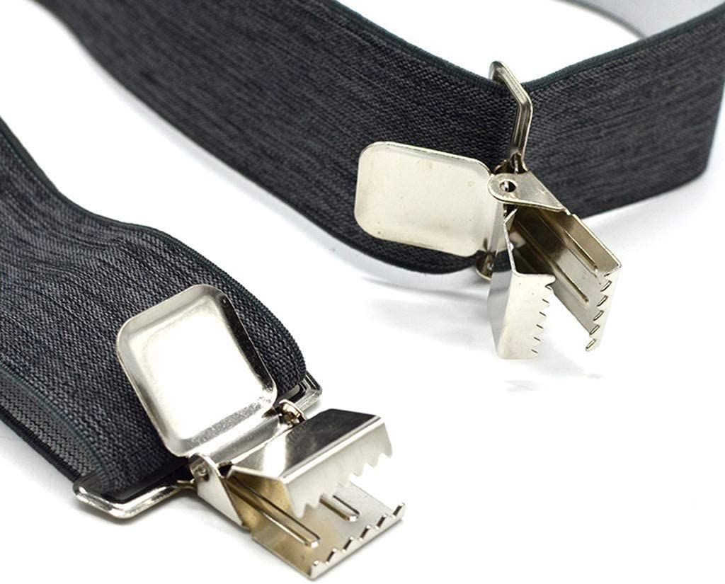 Unisex Men Soild Casual Adjustable Strap Cross Braces Suspenders