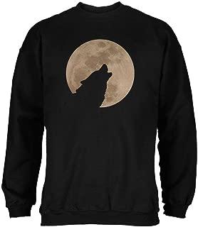 Old Glory Wolf Howling Moon Silhouette Mens Sweatshirt