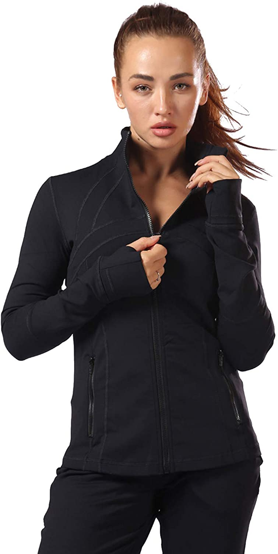 Aitangee Womens Sports yoga Running Jacket Slim Fit Full Zip Track Jacket Turtleneck Workout Jacket : Sports & Outdoors