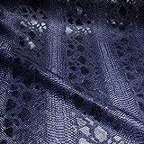 Stoff am Stück Stoff PVC Kunstleder Krokodil nachtblau