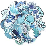 FENGLING Blue Sea Ocean Luggage Skateboard Sticker Car Motocycle Graffiti Stickers for Scrapbooking 53 Pcs/Set