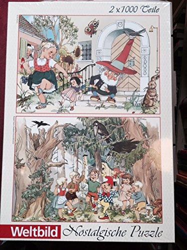 Nostalgische Puzzle, Ri Ra Rutsch und Kasperl beim Zauberer Knurrebrumm