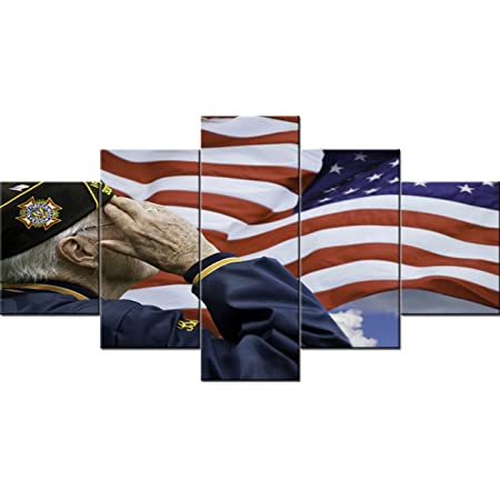 3 Panels US Army Canvas Print 5 Panels US Patriot Wall Art Thank You Veterans Poster Mothers Day Gift Veterans Canvas Art