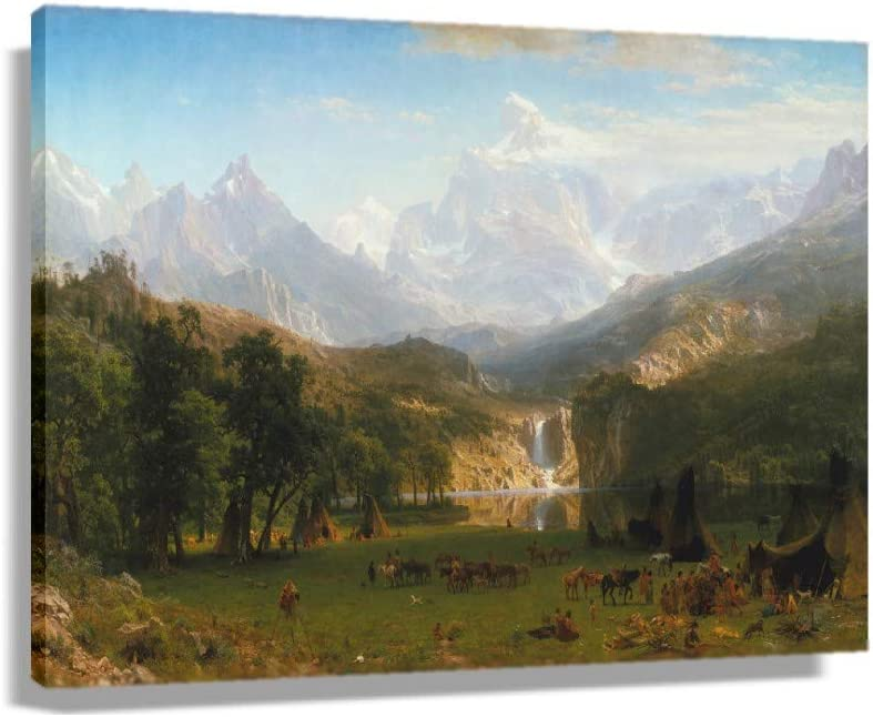 gift Albert Bierstadt Washington Mall The Rocky Mountains Lander's Peak Poste 1863