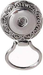 Flower Button Rhinestone Eye Glass Sunglass Holding Snap Magnetic Brooch Jewelry