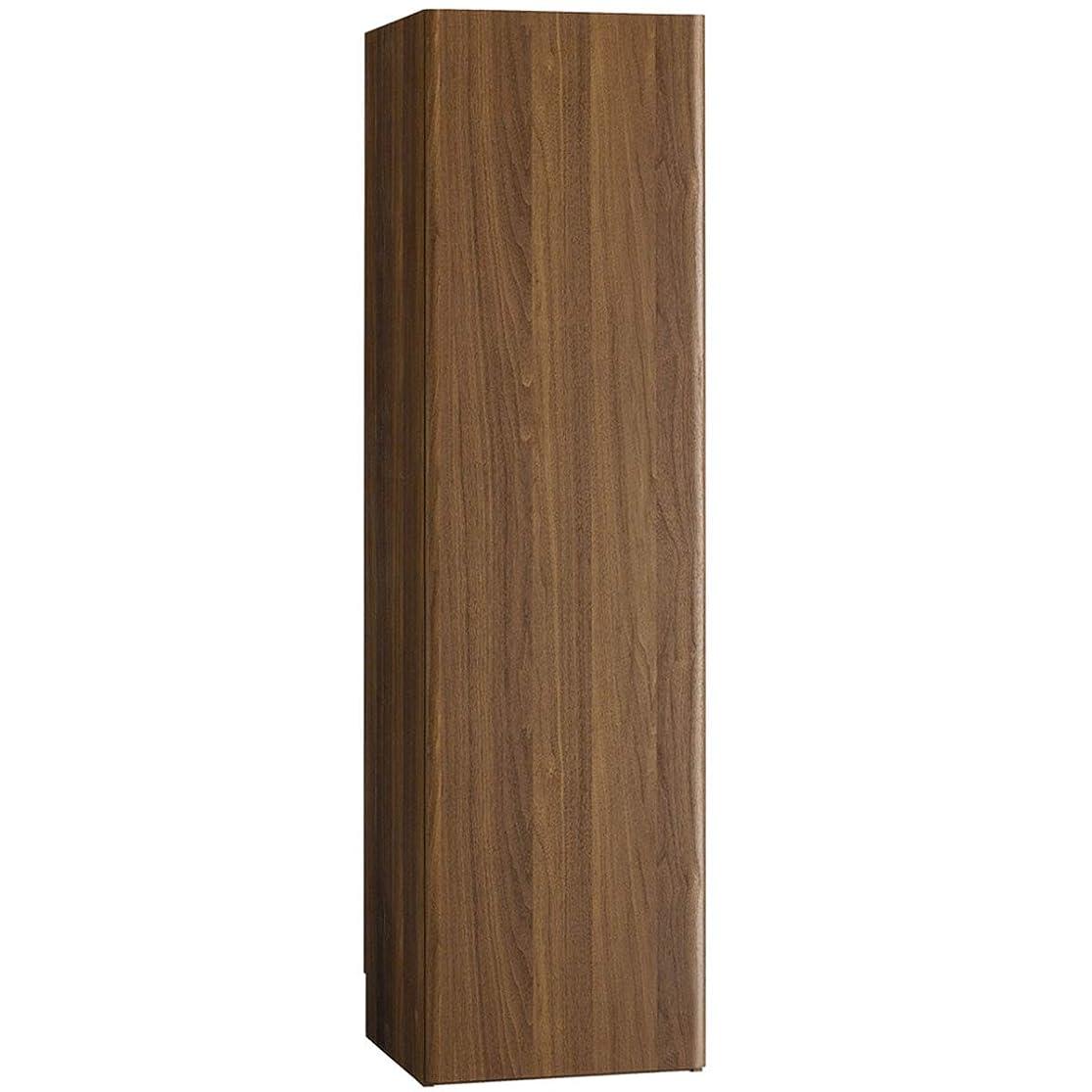 サークル取り戻す延ばす朝日木材加工 ストッカー L-forme クリーナーストレージ 幅39.2cm 奥行41.3cm 高さ145cm ブラウン 巾木よけ加工 LFM-1440ST-DB
