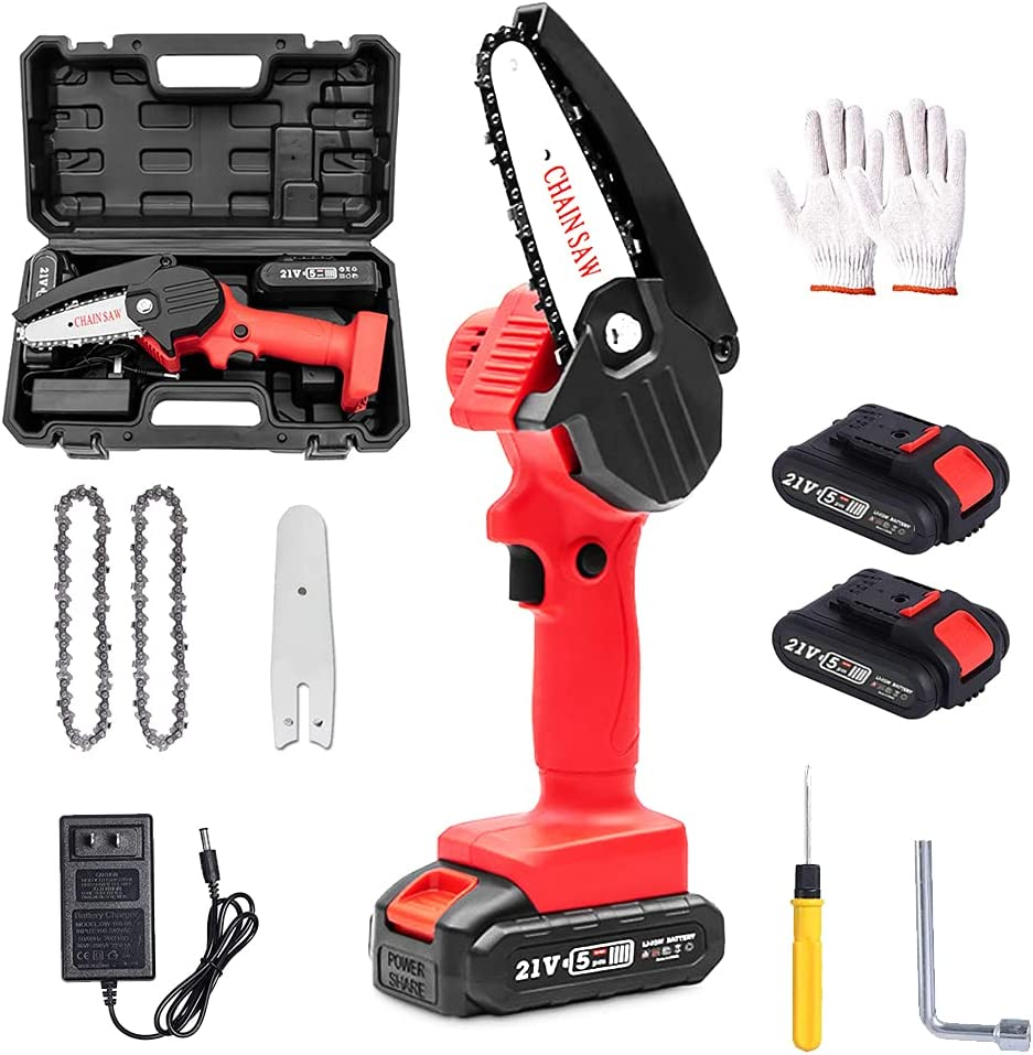Mini Chainsaw Set Direct stock discount 4-inch OFFer Cordless Handheld El Electric