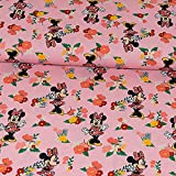 Baumwolljersey Minnie Mouse rosa Lizenzstoff - Preis gilt