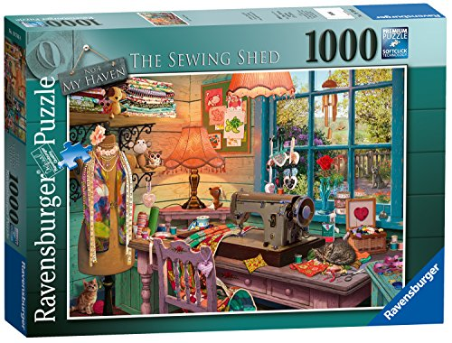 Ravensburger My Haven No.4 The Sewing Shed 1000 Piece Jigsaw Puzzle for Adults & for Kids Age 12 and Up