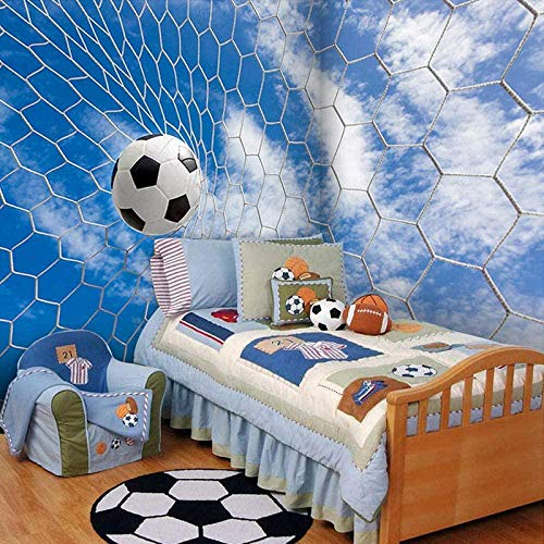 VGFGI 3D Moderne minimalistische Wandbild Sport Fußball für Kinder Bettwäsche Sofa Hintergrundbild Wallpaper-400cm(W) x200cm(H)