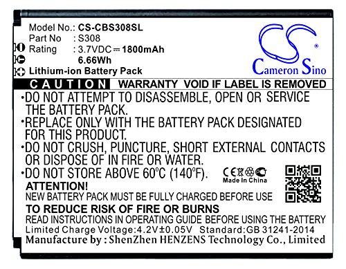 CS-CBS308SL Batería 1800mAh Compatible con [CUBOT] S308 sustituye S308