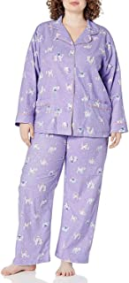 Plus Size Flannel Pajamas Women Soft - Women's Flannel...