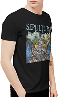 anxiety Mens Vintage Sepultura Machine Messiah T Shirts and Washed Denim Hat Casquette Black