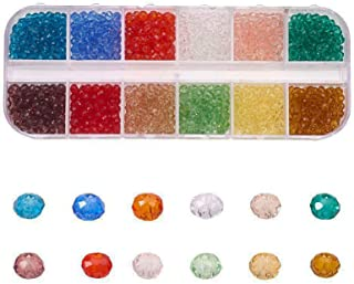 SAPU 1200PCS Jewelry Making Kit Beads for Bracelets Bracelet Beads 3mm Glass Pony Seed Arts and Crafts Beads for Jewelry P...