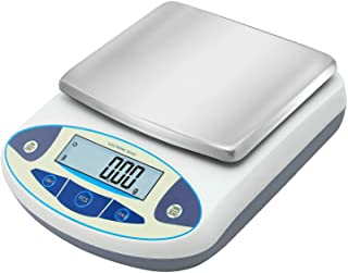 Bonvoisin Lab Scale 5000gx0.01g High Precision Electronic Analytical Balance 0.01g Accuracy Laboratory Lab Precision Scale Digital Kitchen Balance Scale Jewelry Scale Scientific Scale (5000g, 0.01g)