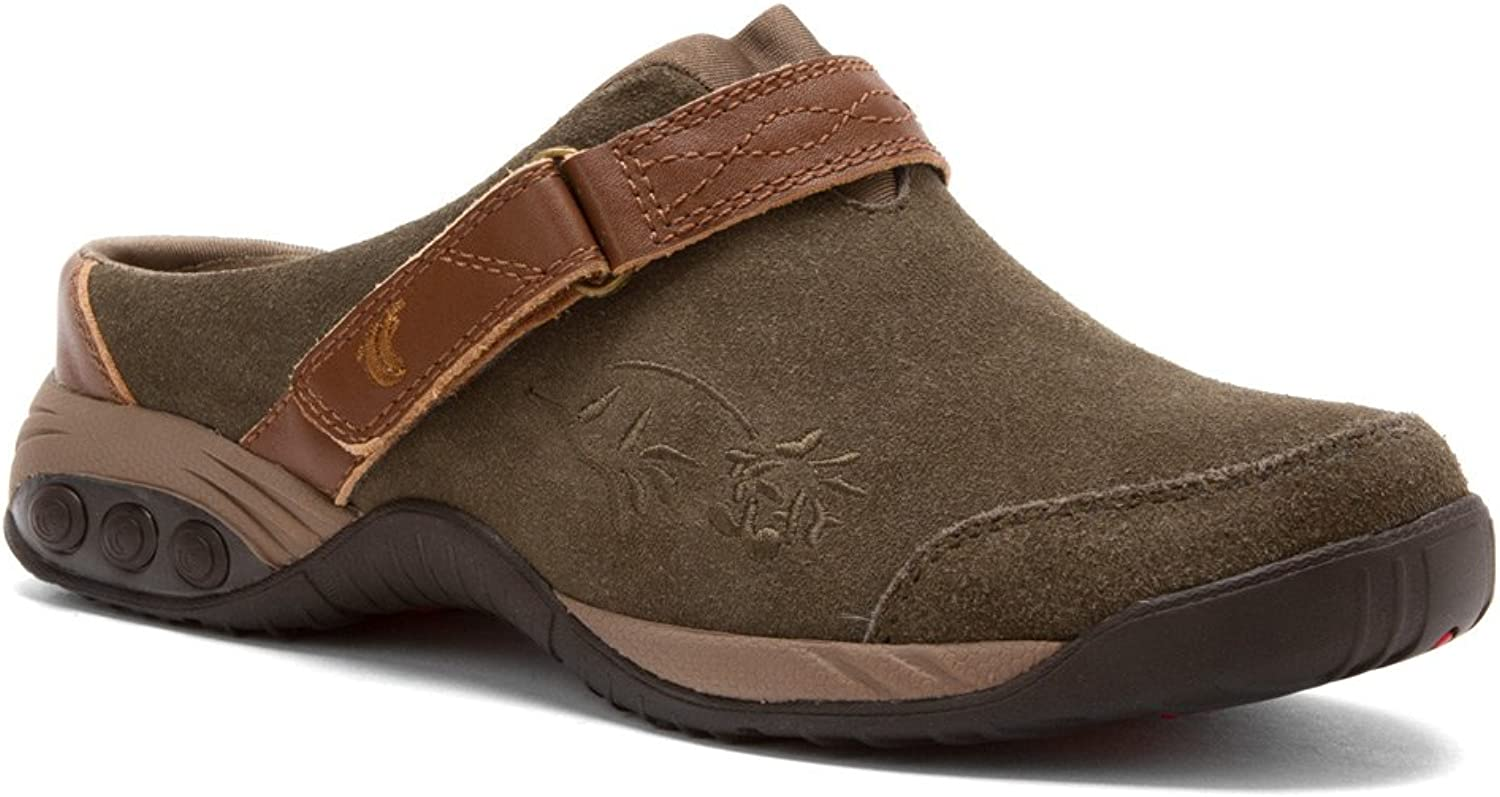 Therafit Women's Austin Clog Suede Navy clogs-and-mules 9 M