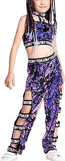 Yudesun Costumes Girl Street Dance Wear Sequin Set Modern Jazz Hip-hop Clothes
