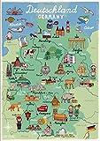 Poster Deutschland für Kinderzimmer und Kindergarten,