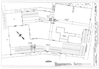Historic Pictoric Structural Drawing Site Plan - Trenton Jewish Community Center, Day Camp Pavilions, 999 Lower Ferry Road, Ewing, Mercer County, NJ 66in x 44in