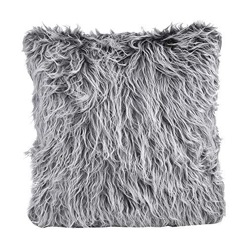 oueaen Throw Pillow Case-45 x 45cm Súper Suave de Piel de Felpa Fundas de Almohada Fundas Decorativas para el hogar Funda de cojín para sofá(Gray01)