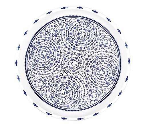 Hecho a mano étnico turco blue-and-white placa de cerámica