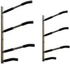 SPAREHAND Glacik Wall Mount Rack Storage System for SUP/Paddle Boards & Surfboards, Holds 3 Boards, Powder-Coated Rust Prevention
