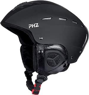 PHZ. Adults Ski Snowboard Sport Helmet for Men Women - Air Flow Control Adjustable Fit