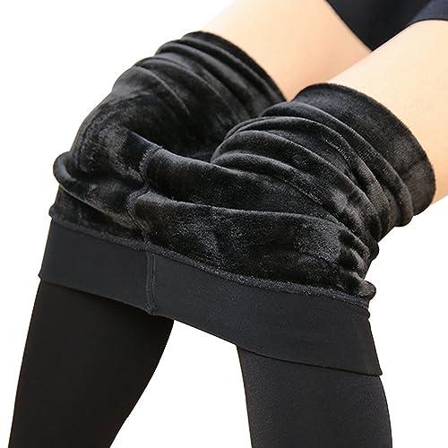 HapiLeap Femme Hiver Super épais Chaud en Velours Extensible Leggings  Pantalon 3e949274246