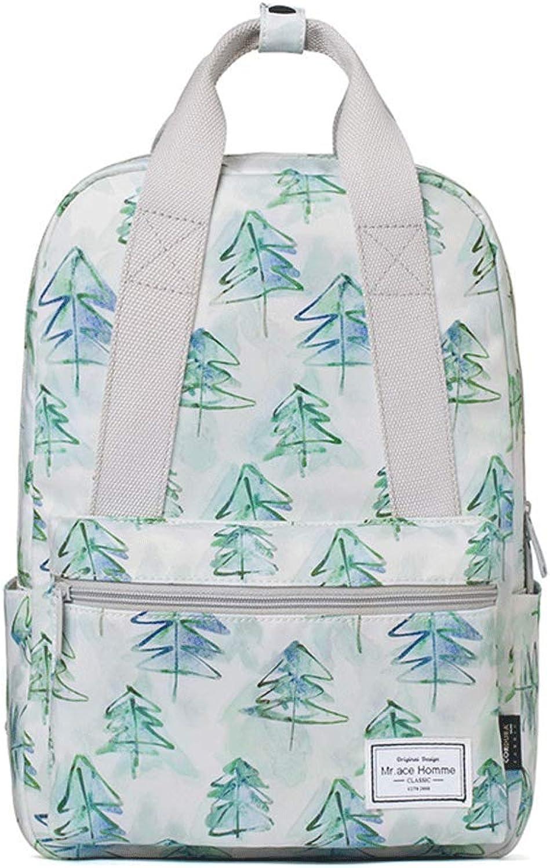YKXIAOYU Backpack Womens Bag New School Bag Fashion School Style Portable Backpack Joker Bag Green