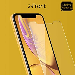 JingooBon Screen Protector Compatible with iPhone 11 [2-Pack], Tempered Glass [Haptic Touch] Temper Glass Film Anti-Fingerprint/Scratch Compatible with iPhone11 (6.1 inch)