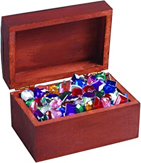 Colorations Wooden Treasure Box, Set of 12, for Kids, Unfinished, Ready to Decorate, DIY Crafts, Arts & Crafts, Personalize, Keepsakes, Gift