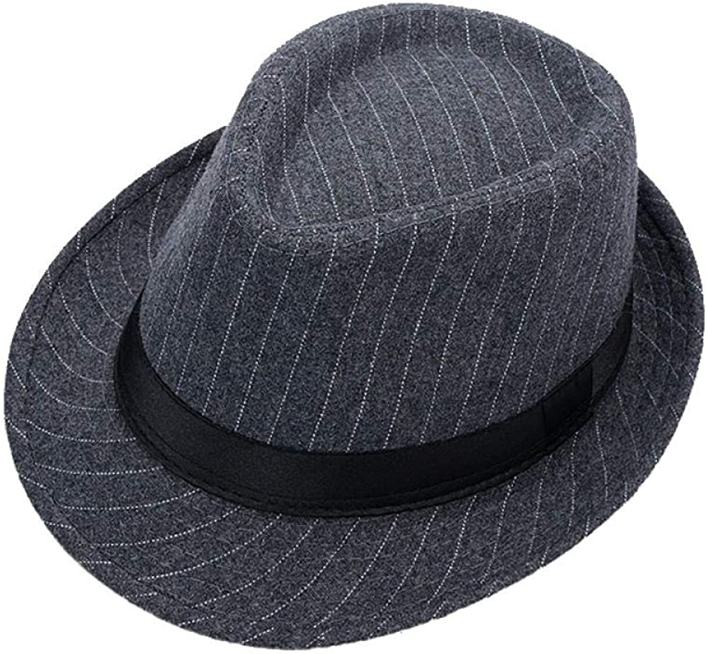 RSRA Fedora Wide Brim Hat Panama Hat Cotton Wide Brim Felt Hat Mens with Wide Band for Travel