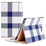 ProCase Galaxy Tab A 10.1 Case 2016 Old Model, Stand Folio Case Cover for Galaxy Tab A 10.1' Tablet SM-T580 T585 T587 (NO S Pen Version) with Multiple Viewing Angles, Card Pocket -Plaid