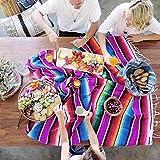 Manta mexicana bohemia grande con mantel mexicano de colores vivos para decoración de mantel mexicano, 150 x 200 cm