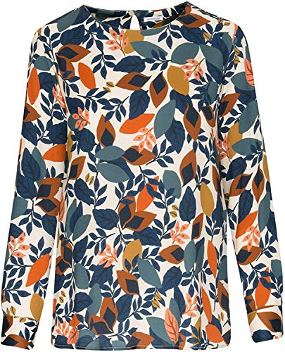 Seidensticker Damen Shirtbluse Langarm Print Bluse, Birch, 34
