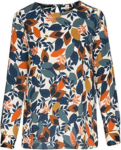 Seidensticker Damen Shirtbluse Langarm Print Bluse, Birch, 46