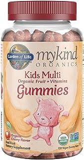 Garden of Life - mykind Organics Kids Gummy Vitamins - Cherry - Certified Organic, Non-GMO & Vegan Complete Children's Mul...