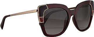 سلفاتوري فيراغامو SF889S نظارة شمسية كريستال أحمر مع عدسة رمادية 52mm 613 SF 889S