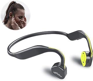 Bone Conduction Headphones Bluetooth V5.0 - Vidonn F1 Sports Open Ear Wireless Headset Sweatproof w/Mic - for Cycling Running Driving Gym - Yellow