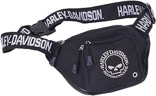 Willie G Skull Logo Belt Bag, Water-Resistant, Black 99426-SKULL