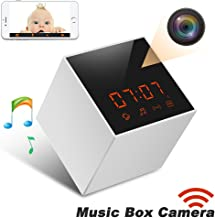 Panoraxy Music WiFi Hidden Camera,Invisible Lens,Wireless Stereo Speaker, US FM Radio, 30fts Night Vision,Remote 720P Video, HD Music, Free App, Loop Record, Instant Push