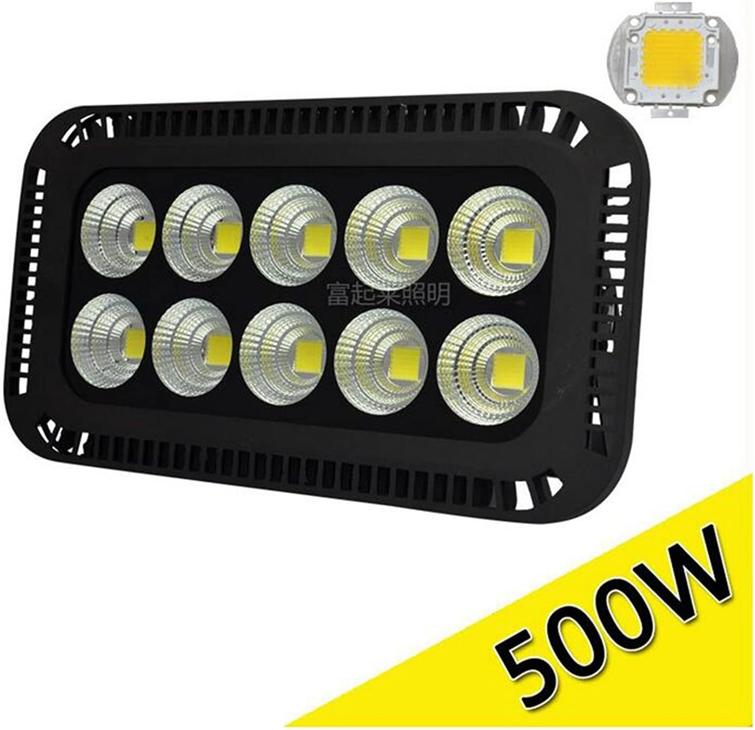500W LED Flood Light, Searchlight ,Tunnel Light,High Power Outdoor Spotlight, Waterproof, AC 220V, Security Lights (color   6000K (White), Wattage   500W)