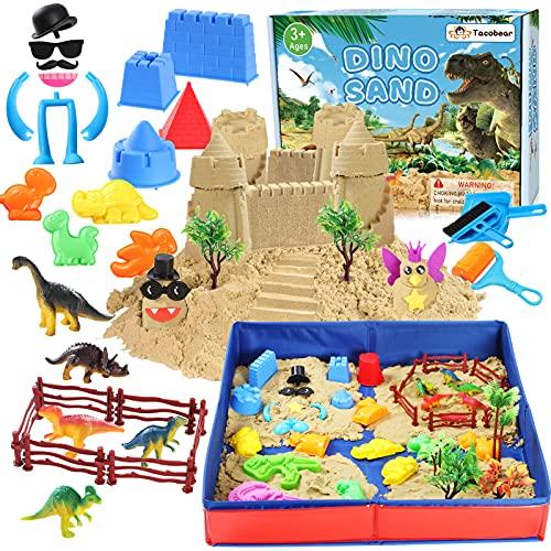 Tacobear Play Sand for Kids 3lbs Magic Sand Kinetic Sand Kit with Foldable...