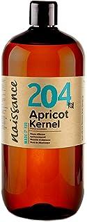 Naissance Abrikozenpitolie (nr. 204) 1 liter - Puur, Natuurlijk, Veganistisch, Geen GGO - Ideaal voor aromatherapie en als...